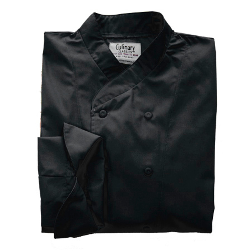 Imperial Chef Coat in Black Egyptian Cotton