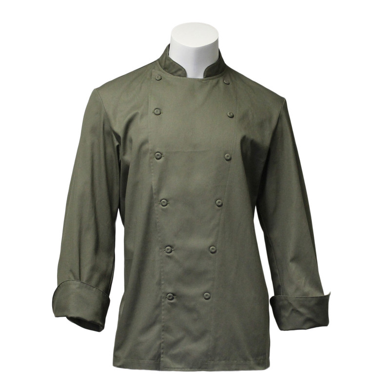 Traditional Chef Coat in Jalapeňo 100% Cotton Flat Twill