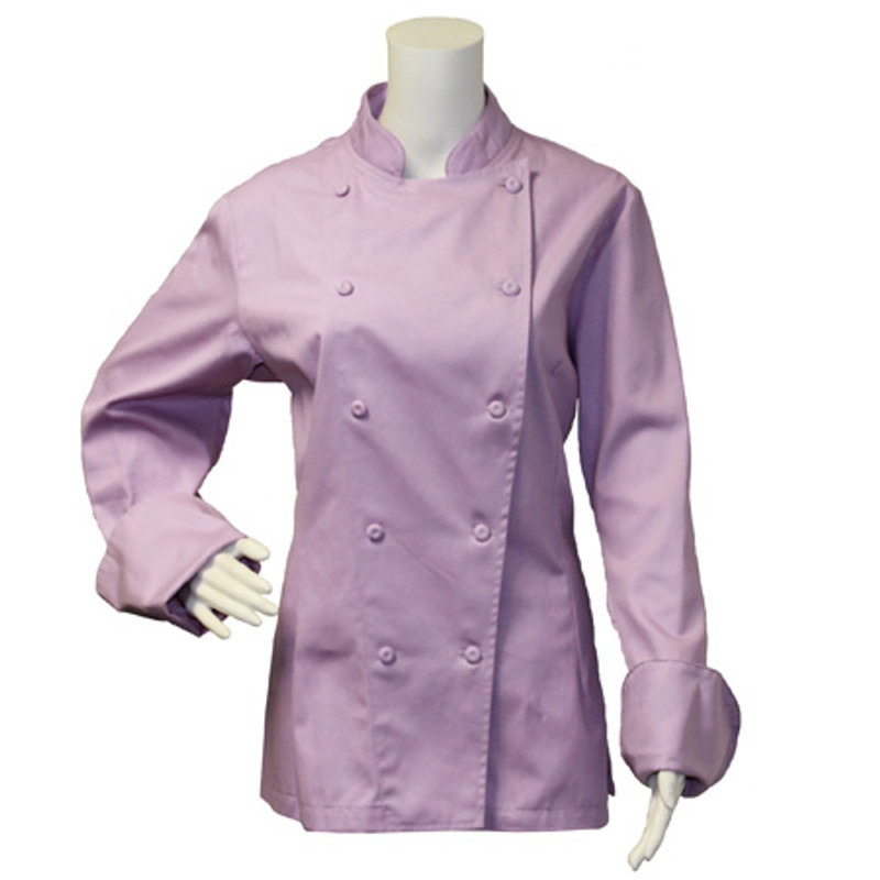 Women's Traditional Coat in Lavender 100% Cotton Flat Twill