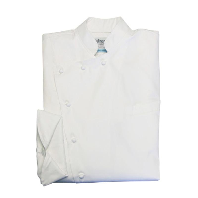 Bordeaux Chef Coat in White Egyptian Cotton 1