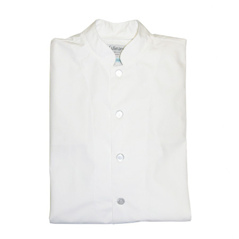 Mandarin Chef Coat in White Poplin