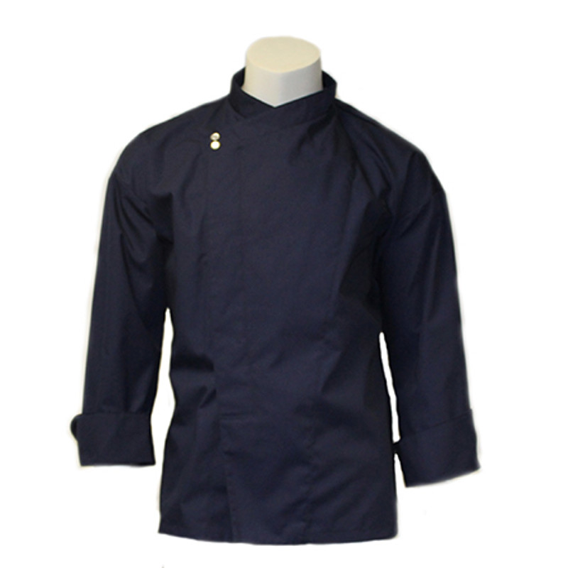 Montreal Chef Coat in Navy Poplin