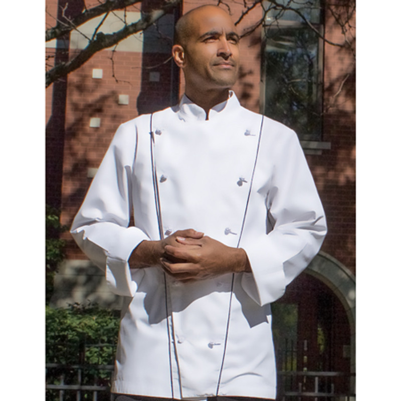 Corded Chef Coat in White