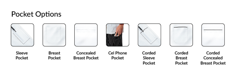 Lucca Chef Coat - Design Your Own