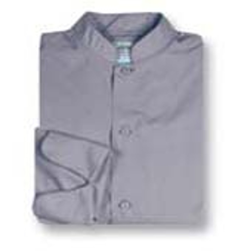 Mandarin Chef Coat in Graphite Poplin
