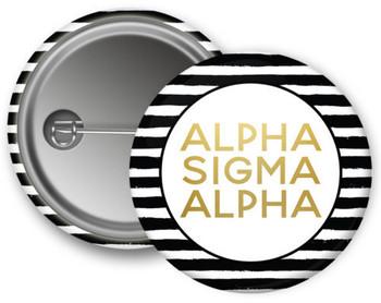 Alpha Sigma Alpha Gold Stripe Button