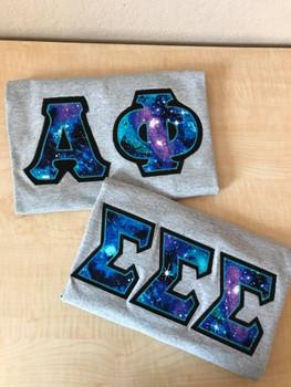 Custom Galaxy Letter Shirt