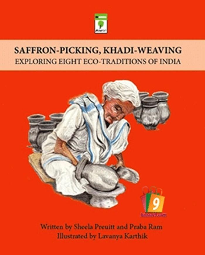 SAFFRON - PICKING, KHADI - WEAVING