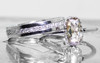 1.07 Carat Light Champagne Diamond Ring in White Gold