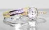 2.10 Carat Glowing Gray Diamond Ring in Yellow Gold