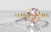 1.19 Carat Champagne and Pepper Diamond Ring in Yellow Gold