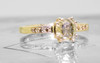 1.60 Carat Champagne Diamond Ring in Yellow Gold