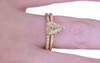 1.31 Carat Champagne Diamond Ring in Yellow Gold