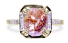 MAROA Ring in Yellow Gold with 1.54 Carat Peach and Cognac Diamond