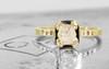 AIRA Ring in Yellow Gold with .76 Carat Light Grayish Champagne Diamond