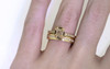 AIRA Ring in Yellow Gold with .48 Carat Champagne Diamond