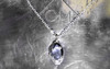 KIKAI Necklace in White Gold with 1.13 Carat Blue Sapphire