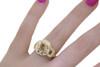 VESUVIO Ring in Yellow Gold with 1.80 Carat Champagne Center Diamond