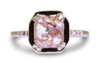 MAROA Ring in Yellow Gold with 1.26 Carat Peach and White Diamond