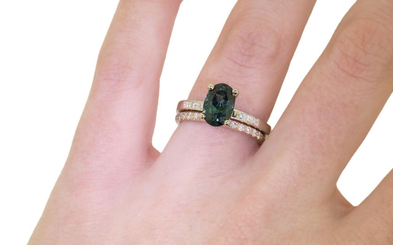 1.70 Carat Tourmaline Ring in White Gold