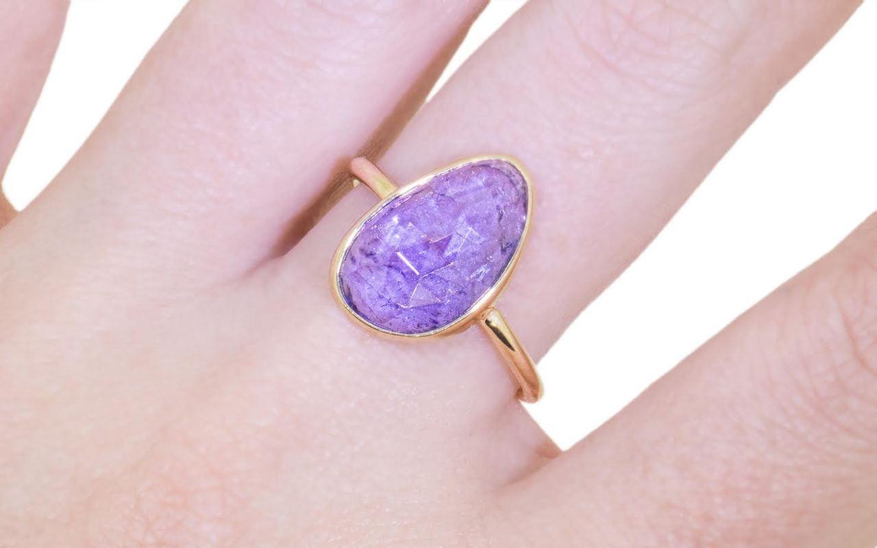 4.7 Carat Tanzanite Ring in Yellow Gold