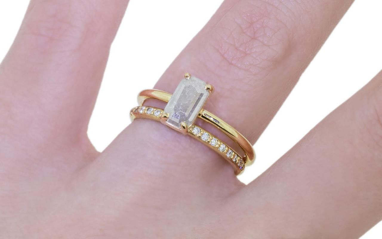.58 Carat Gray Diamond Ring in Yellow Gold