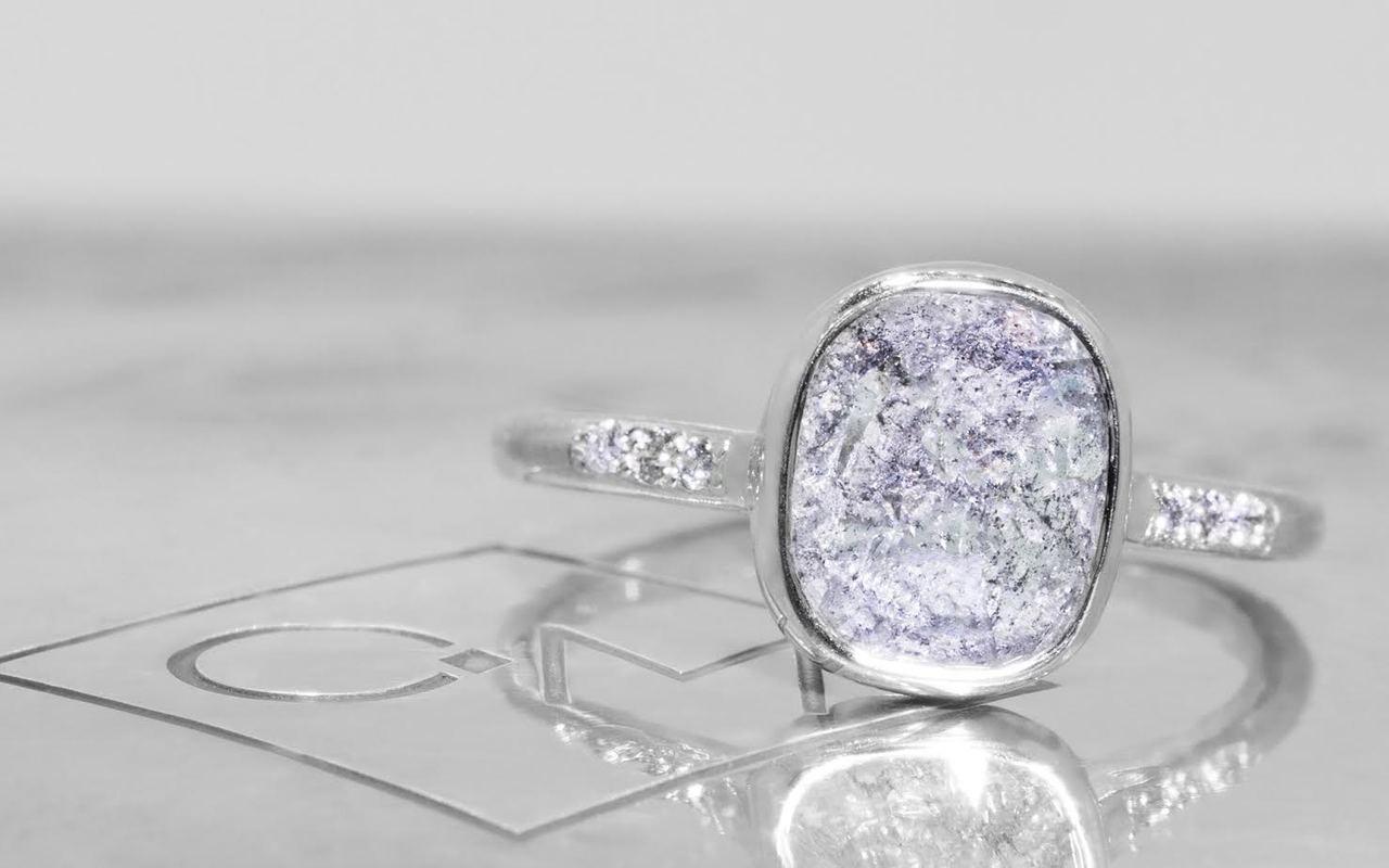 2.28 Carat Salt and Pepper Diamond Ring in White Gold