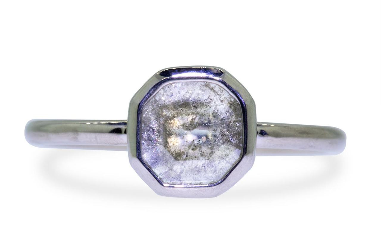 .63 Carat Gray/White Diamond Ring in White Gold