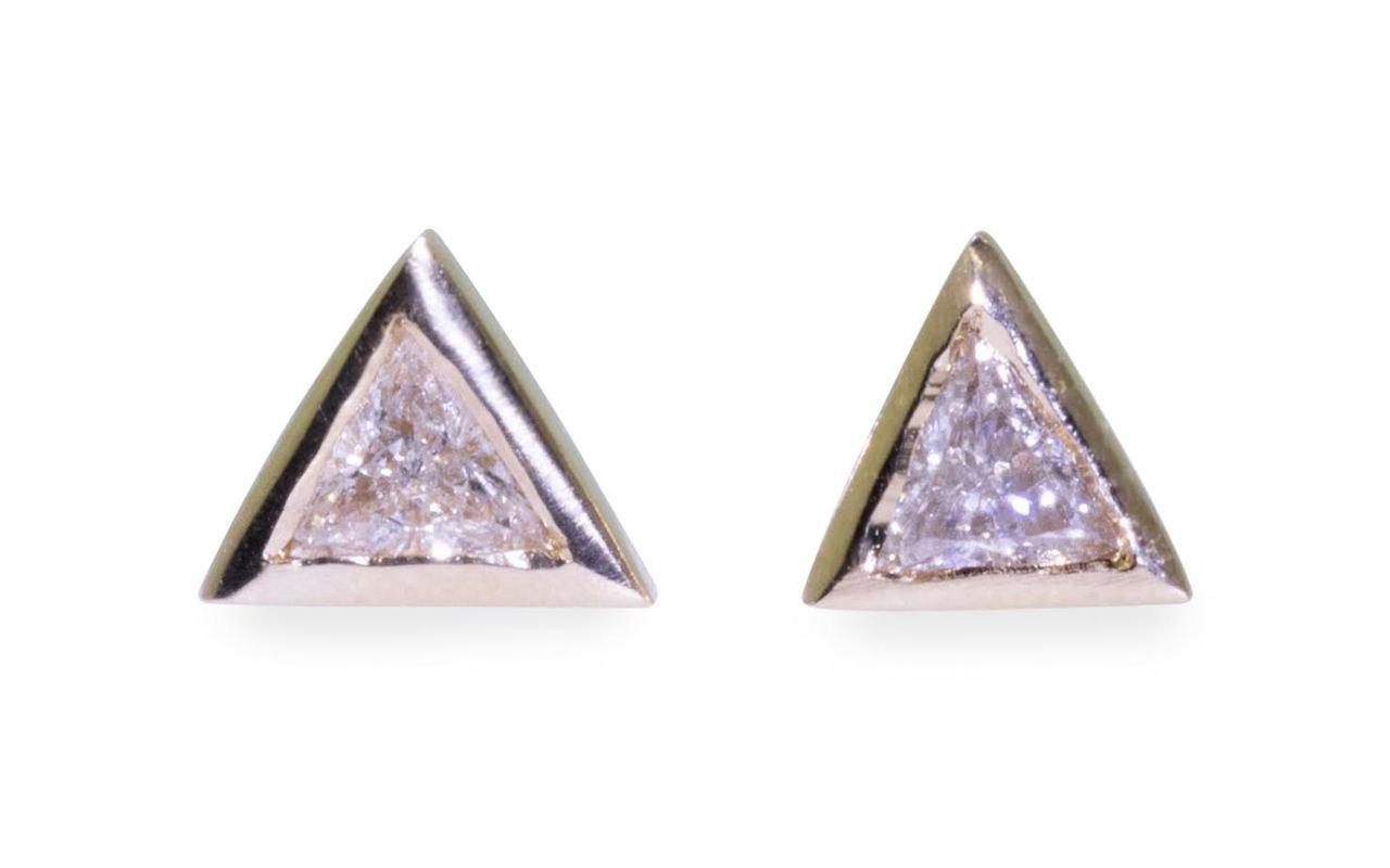 Trillion Diamond Earrings