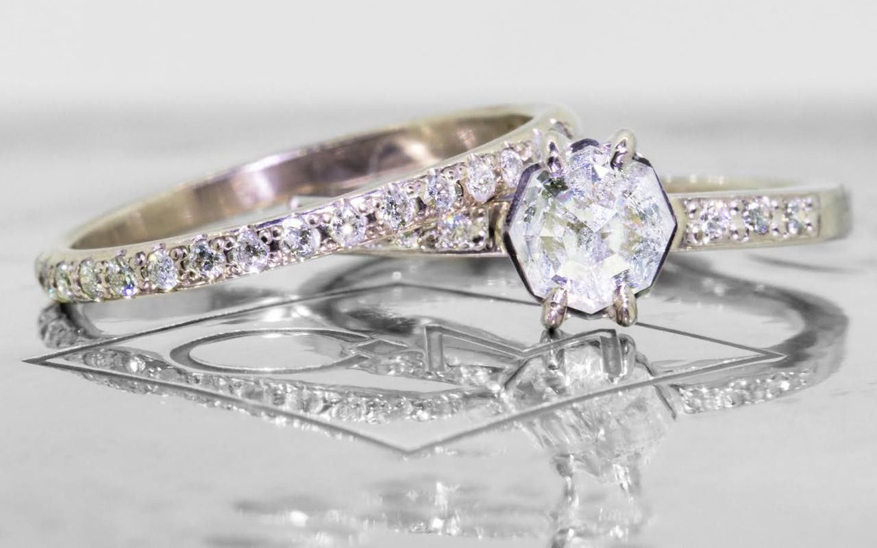 .83 Carat Icy White Diamond Ring in White Gold