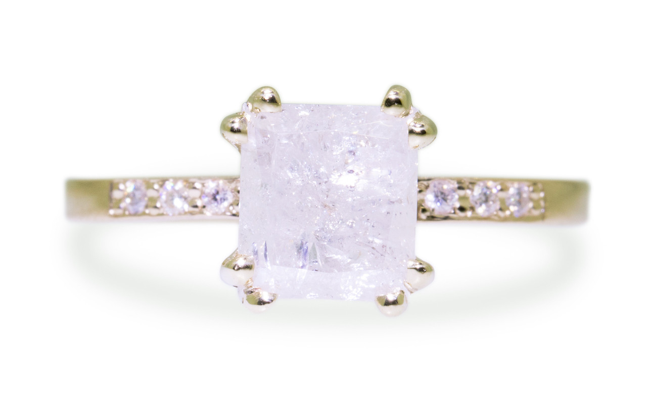 1.98 Carat Icy White Diamond Ring in Yellow Gold