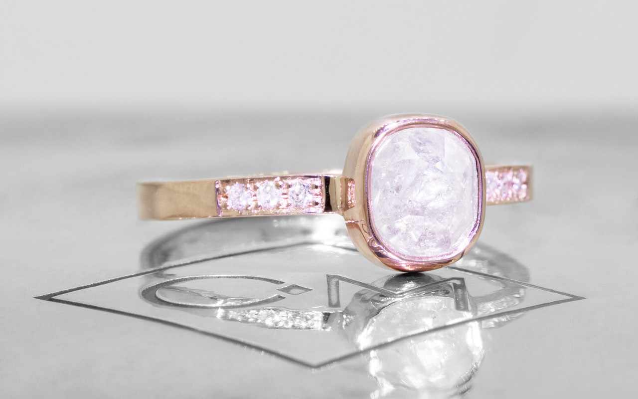 1.47 Carat Icy White Diamond Ring in Rose Gold
