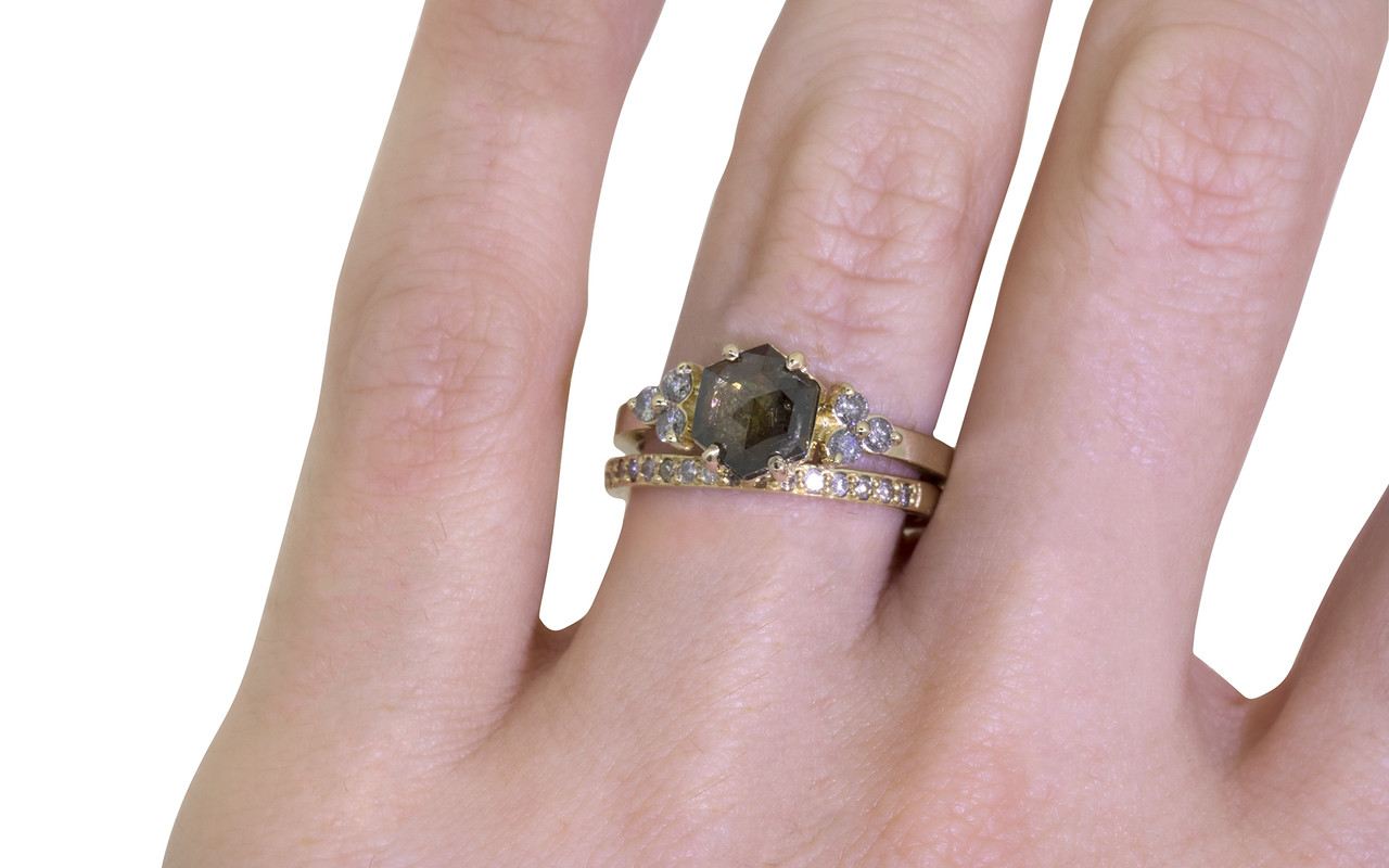 1.05 Carat Cocoa Diamond Ring in Yellow Gold