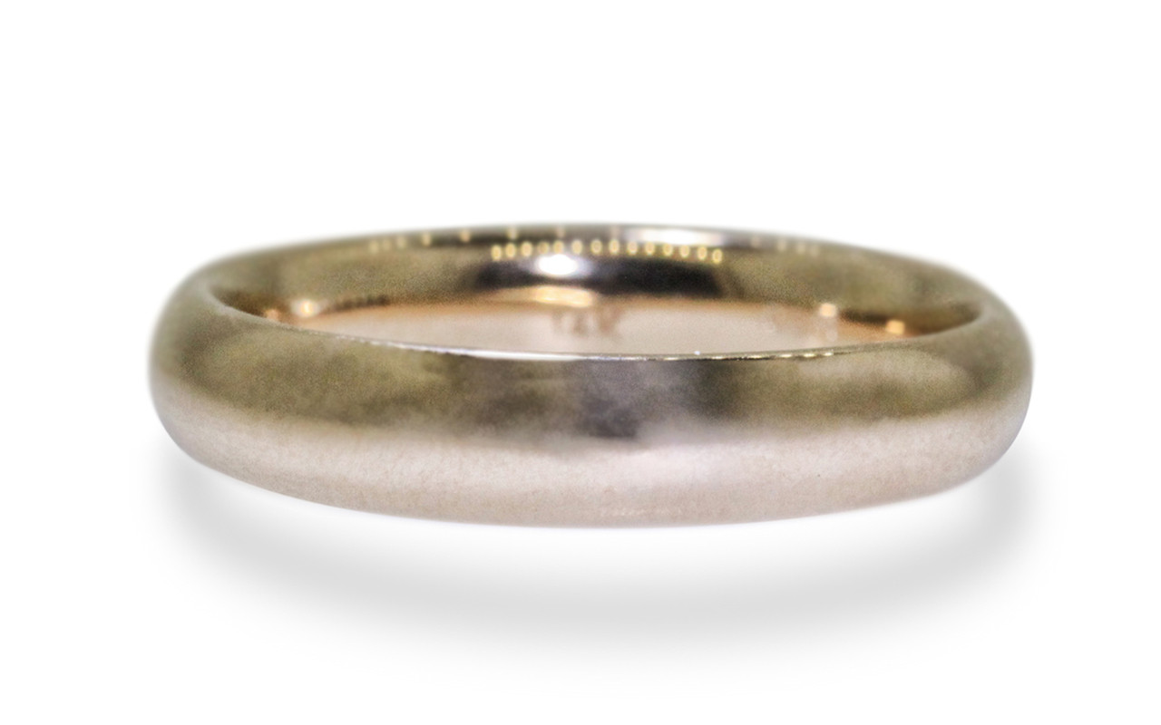 Men's Hand Carved and Cast Gold Wedding Band