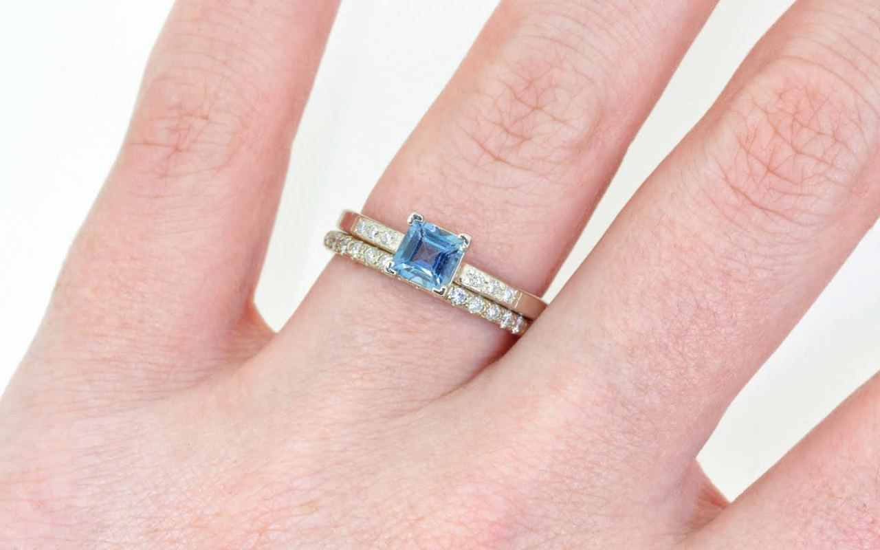 .58 Carat Aquamarine Ring in White Gold