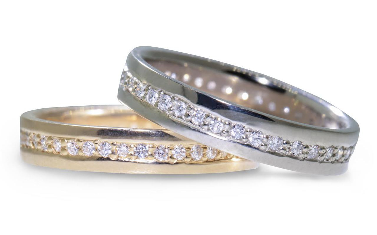CM Eternity Wedding Band With White Diamonds