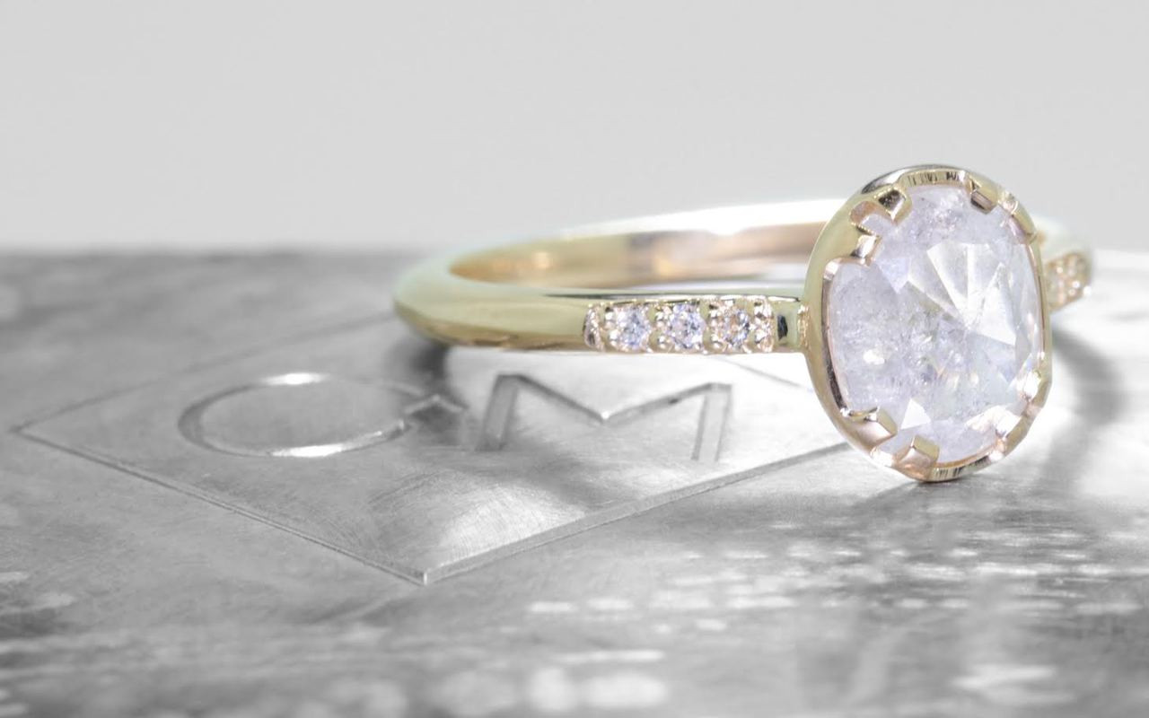 1.09 Carat Icy White Diamond Ring in Yellow Gold