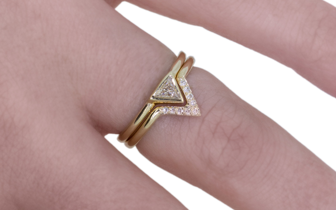 Diamond Triangle Ring