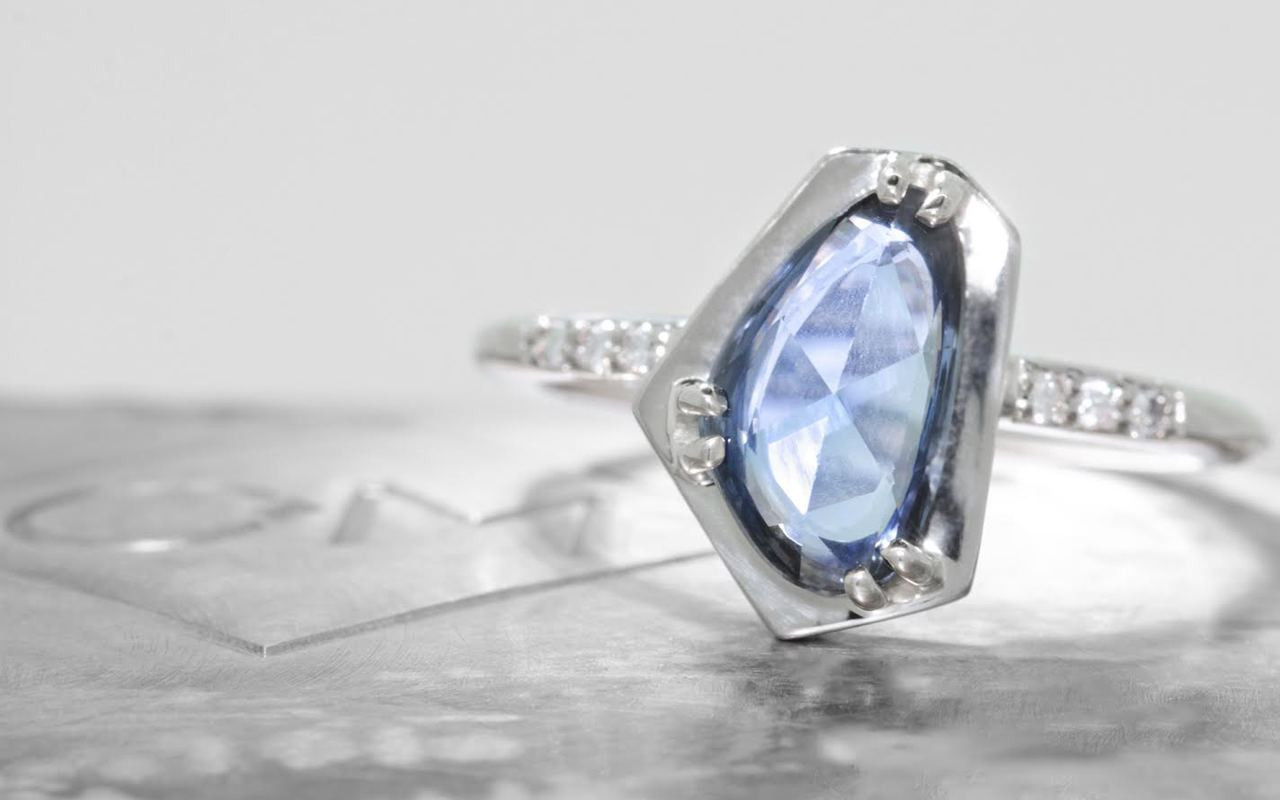 1.88 Carat Sapphire Ring in White Gold