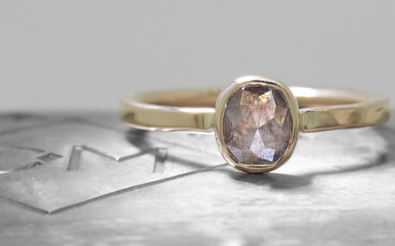 .82 Carat Cocoa Diamond in Yellow Gold