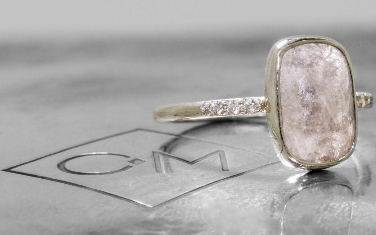 2.82 Carat Gray Diamond Ring in White Gold