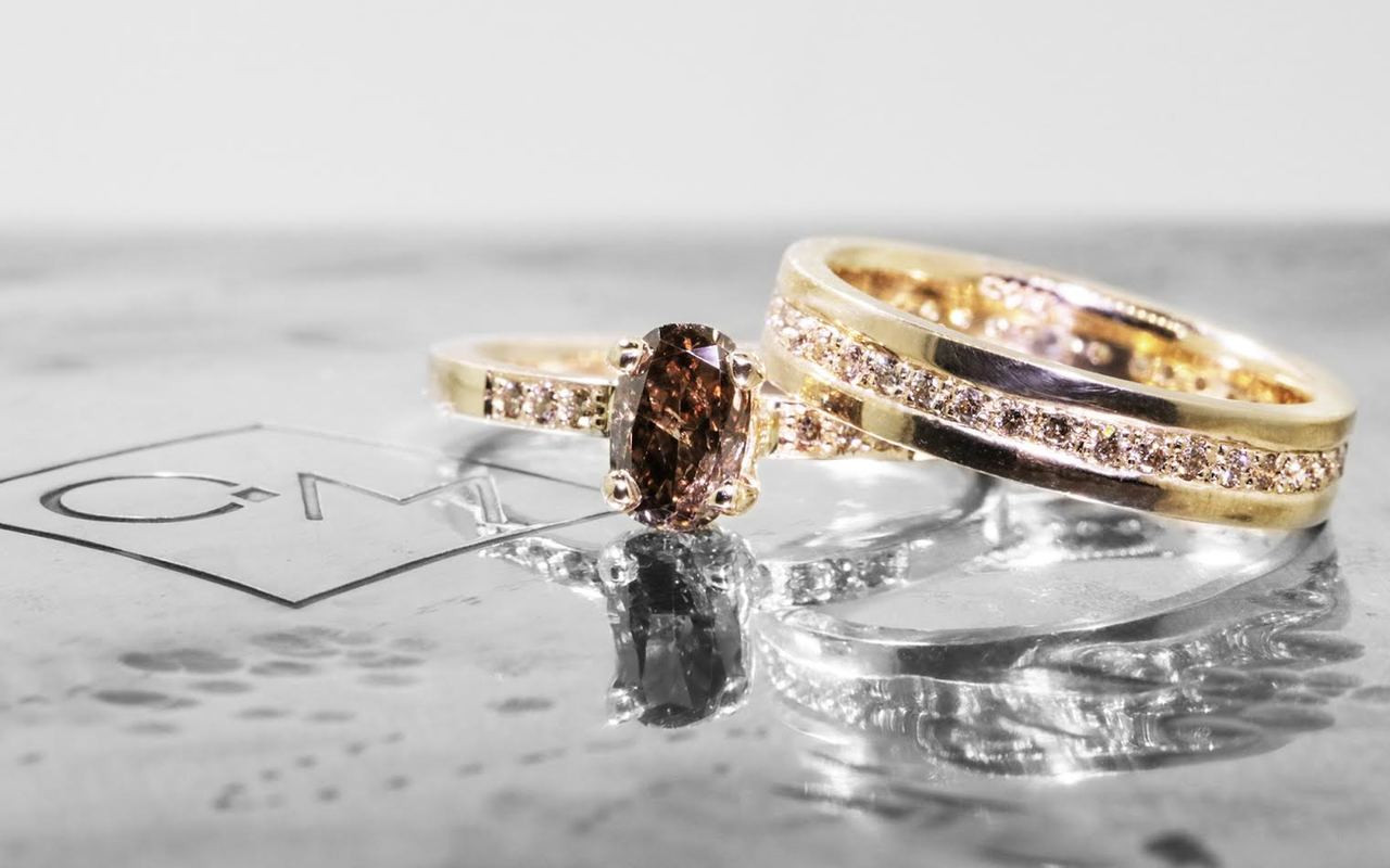 .83 Carat Cognac Diamond in Yellow Gold