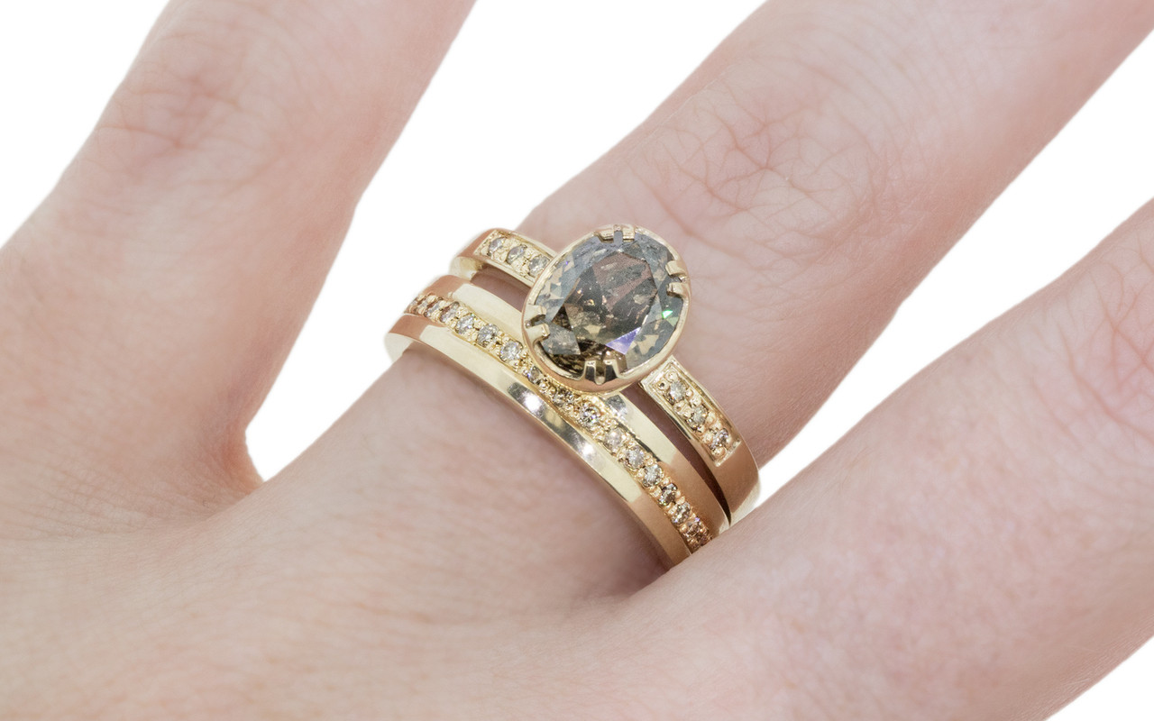 2.17 Carat Cocoa Diamond in Yellow Gold