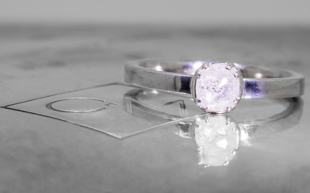 .49 Carat Icy White Diamond in White Gold
