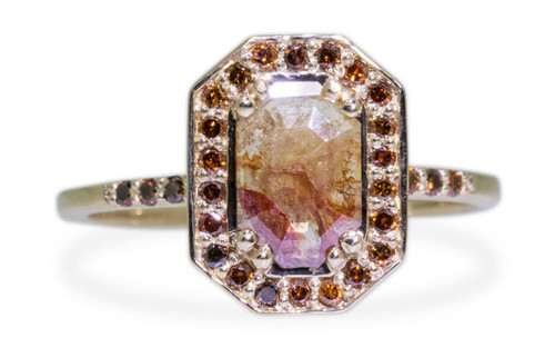 KATLA Ring in Yellow Gold with .60 Carat Cognac/Champagne Diamond