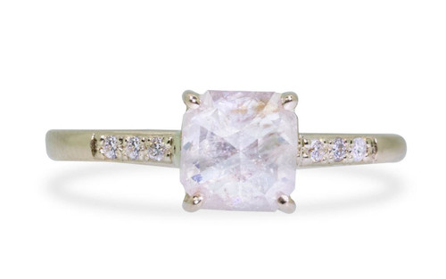 1.32 Carat Natural Pinkish White Diamond in Yellow Gold