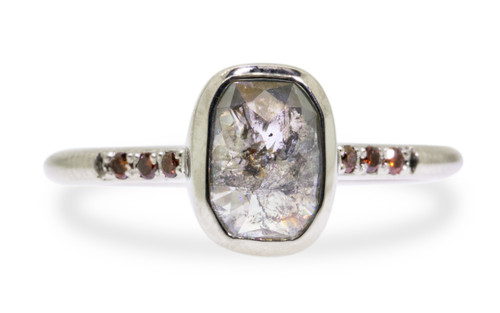 1.79 Carat Gray Diamond Ring in White Gold