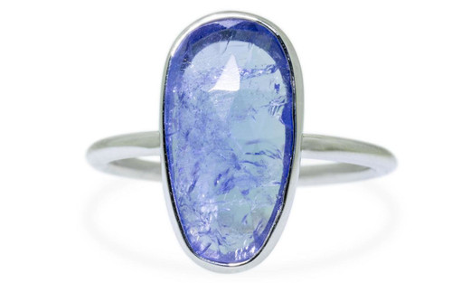 3.8 Carat Tanzanite Ring in White Gold