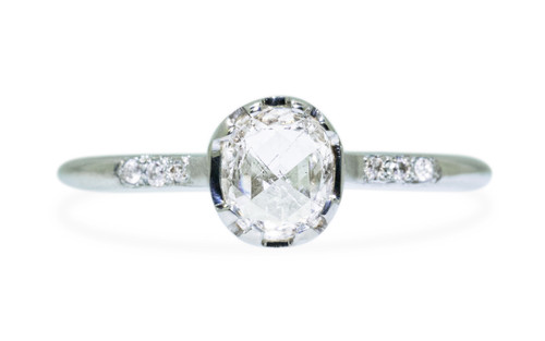 .55 Carat Natural White Diamond Ring in White Gold