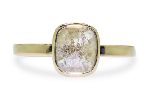 1.14 Carat Gray Diamond Ring in Yellow Gold
